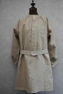 1950's French military linen smock H.M. dead stock