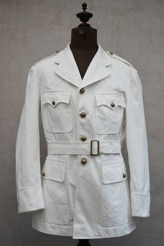 ~1930's French military white cotton twill jacket