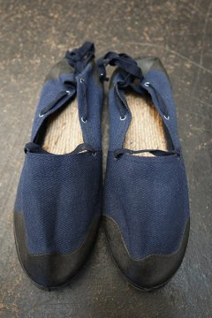 mid 20th c. French military espadrilles dead stock