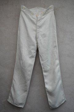early 20h c. French military herringbone linen work trousers