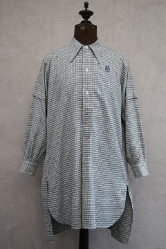 ~1940's blue checked cotton shirt