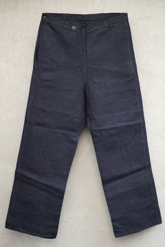 cir.1930's-1940's indigo linen work trousers dead stock