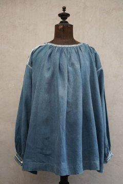 late 19th c. indigo linen smock