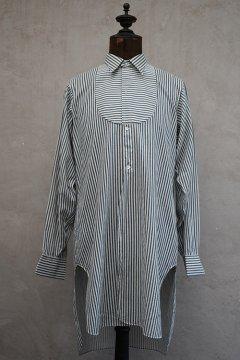 ~1930's blue striped cotton shirt