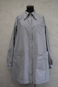 cir. mid 20th c. houndstooth work coat