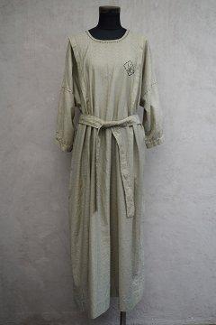 1920's-1930's striped H/SL dress