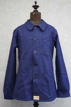cir.1950's blue cotton twill work jacket dead stock