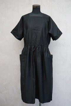 1930's black S/SL work dress dead stock