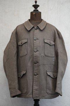 cir.1940's-1950's brown salt&pepper pique hunting jacket dead stock