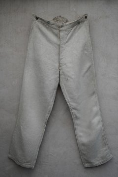 1930's French army herringbone linen bourgeron trousers