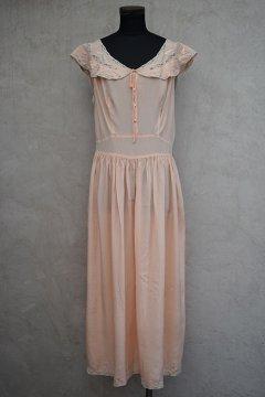 1930's pink silk night dress