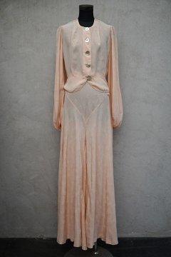 1920's-1930's pink silk night wear set