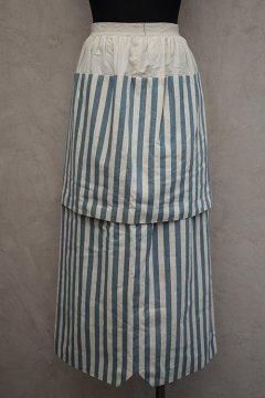 1890's-1900's blue striped skirt