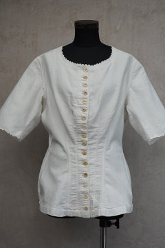 ~early 20th c. white blouse S/SL