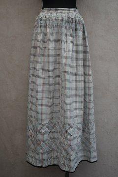 1900's indigo checked skirt