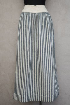 late 19th c. - early 20th c. indigo striped skirt