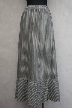 1900's-1910's gray striped skirt