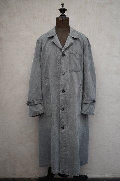 1940's salt&pepper cotton atelier coat