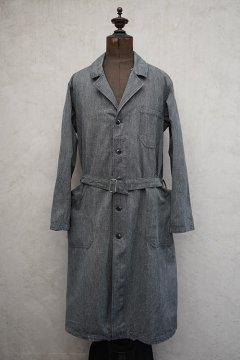 1940's-1950's salt&pepper cotton atelier coat
