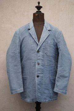 1950's blue moleskin work jacket lapeled