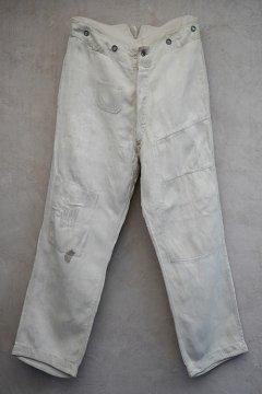 ~1940's German military herringbone linen work trousers