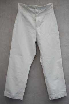 early 20th c. white cotton linen trousers