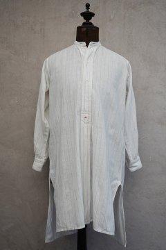~1930's striped white cotton shirt