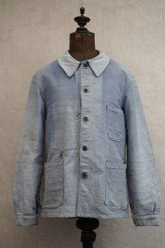 -1940's faded blue molkeskin work jacket