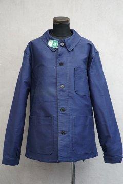 mid 20th c. blue moleskin work jacket dead stock