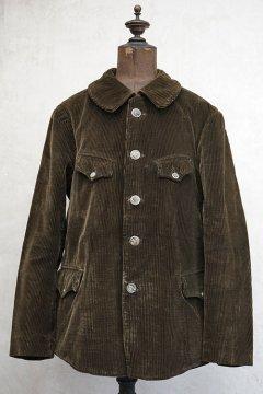 1930's-1940's dark brown corduroy hunting jacket
