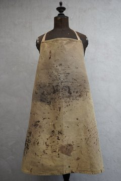 cir. 1940's painted brown canvas apron III