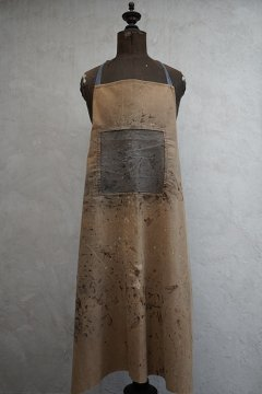cir. 1940's painted brown canvas apron II