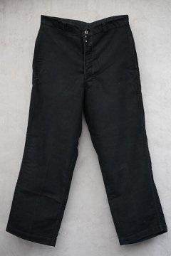 1940's-1950's black moleskin work trousers