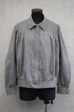 ~1930's gray striped blouse / jacket