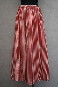 late 19th c. red striped skirt