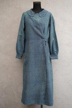 cir.1930's printed indigo cotton dress