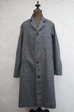 mid 20th c. salt&pepper cotton atelier coat