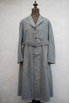 cir.1940's linen × cotton atelier coat