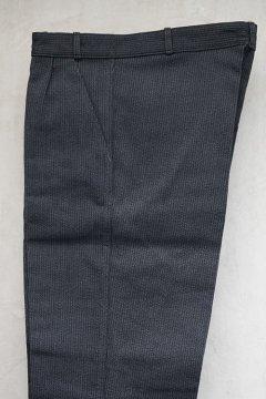 mid 20th c. dark gray pique work trousers dead stock