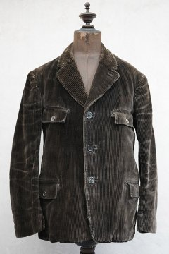 cir.1930's dark brown corduroy jacket