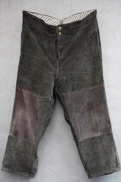 cir.1930's brown corduroy work trousers