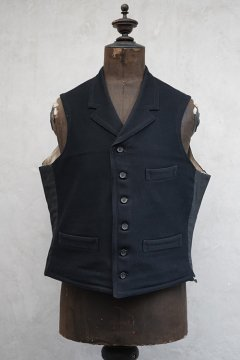early 20th c. black wool gilet