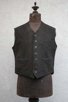 1930's-1940's brown wool work gilet