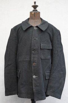 ~1940's black wool work jacket