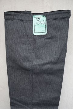 1950's-1960's dark gray pique work trousers dead stock 48