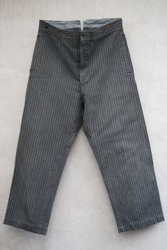 1940's striped cotton work trousers