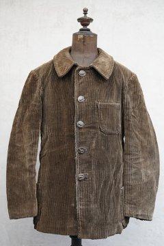 ~1930's brown corduroy work jacket