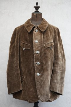 1930's-1940's brown corduroy hunting jacket