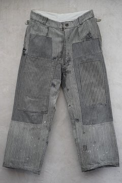 1930's-1940's striped cotton work trousers