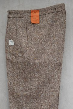 1930's-1940's brown mix wool trousers dead stock